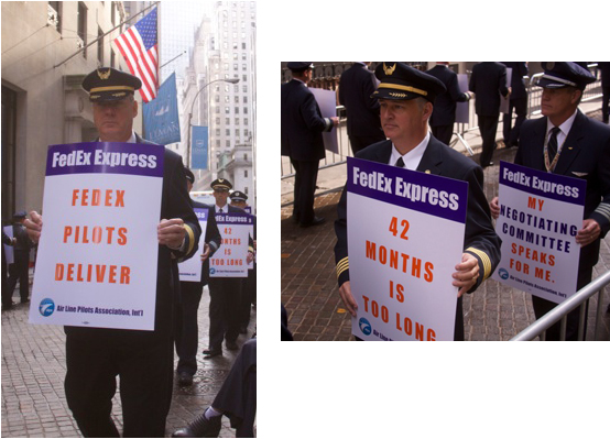 United Pilots Join FedEx Informational Picketing in DEN
